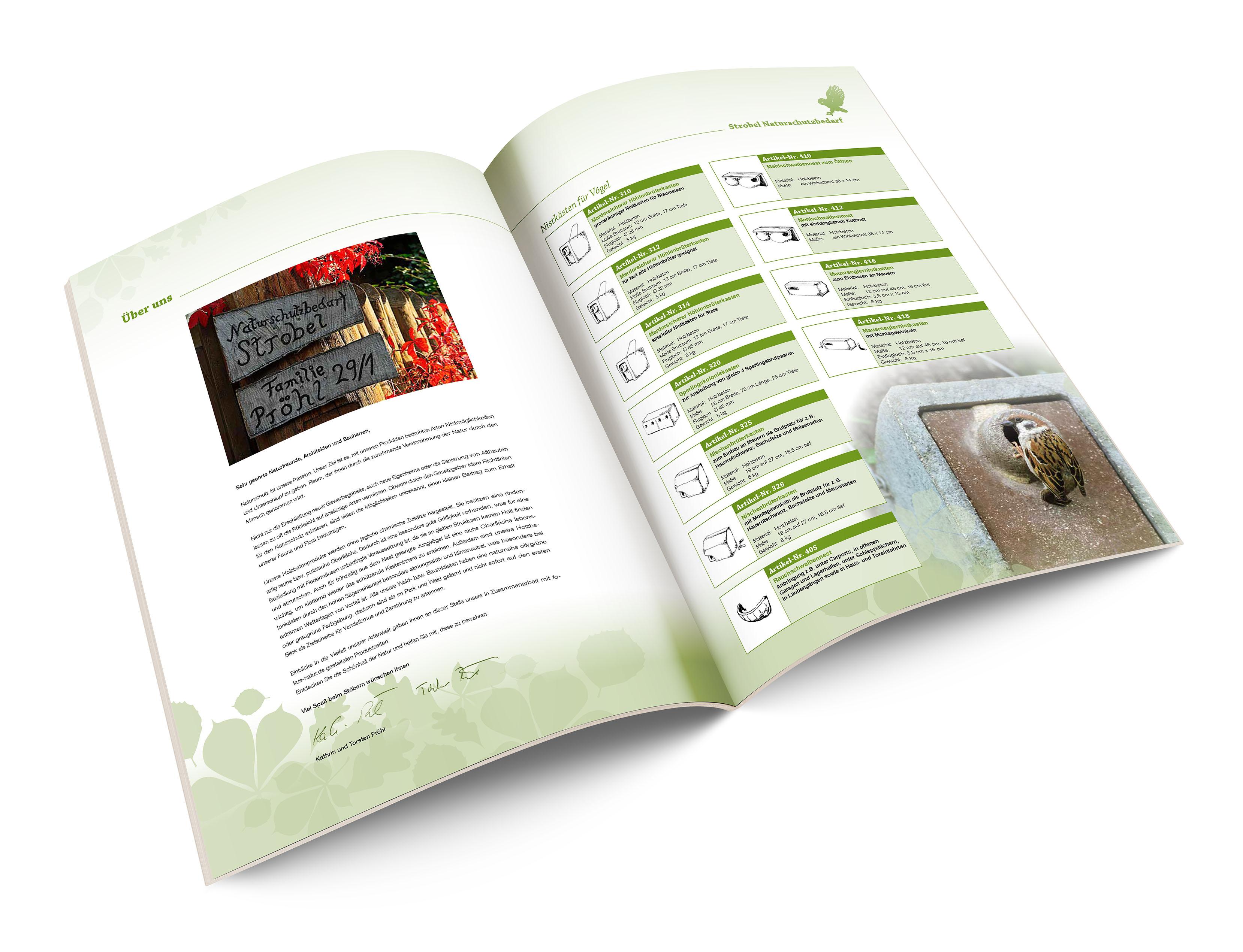 Naturschutzbedarf Strobel Produktkatalog Inhaltsseiten