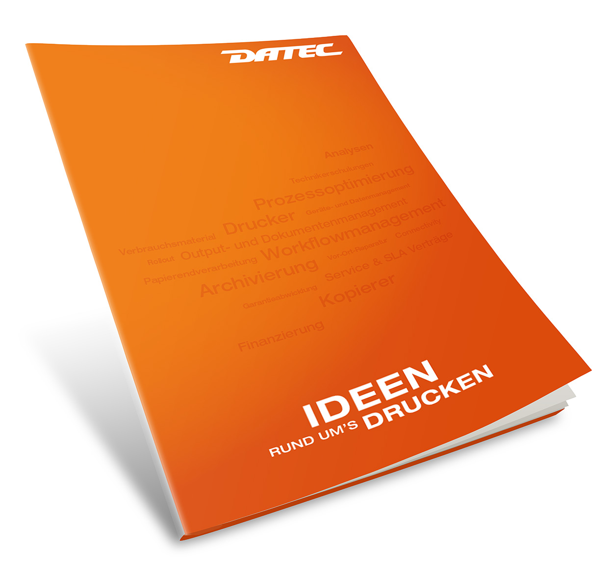 DATEC Imagebroschüre Titelseite
