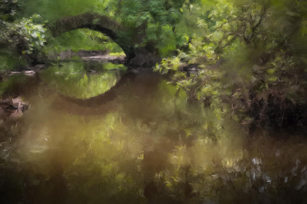 alte brücke, digitales Gemälde nach einer Fotografie von Frank Leo, fokus-natur.de