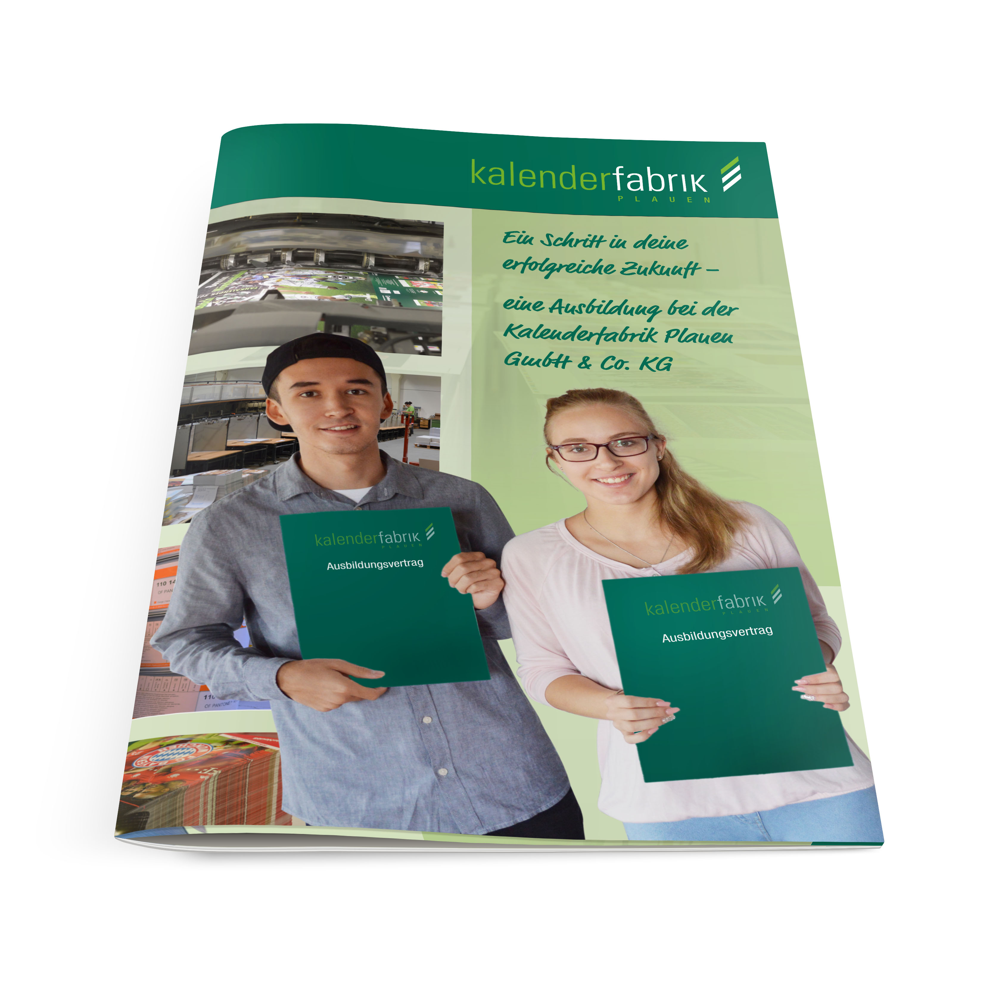 Kalenderfabrik Plauen Prospekt für Ausbildungsmesse